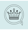 crown isolated design vector image vector image