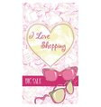 Decorative design card with women sunglasses vector image vector image