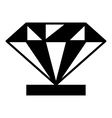 Diamond on a pedestal icon simple style vector image vector image