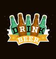drink beer motivational design with beer glass vector image vector image