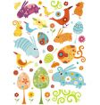 Easter animals set vector image vector image