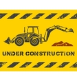 Excavator and dirt vector image vector image