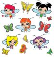 Fairies and butterflies vector image