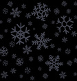 Falling snow or night sky with stars seamless vector image