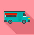 fast food truck icon flat style vector image vector image