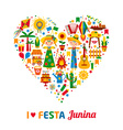 Festa Junina village festival in Latin America vector image