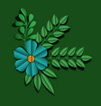 flower and leafs floral decoration vector image