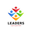four human group with leader or boss icon logo vector image vector image