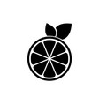 fresh lemon logo design template and support icon vector image vector image