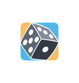 gamble dice icon simple flat logo vector image
