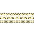 geometric border set line art vector image vector image