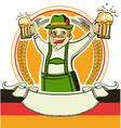 German man and glasses of beer oktoberfest estival vector image vector image