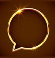 gold shiny vintage chat bubble border golden vector image