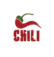 grunge chili pepper design template vector image