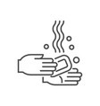 hand washing related thin line icon vector image
