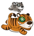 Handmade soft toy tiger animal vector image vector image