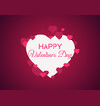 happy valentines day greeting card background vector image vector image