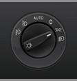 headlights selector car element vector image vector image