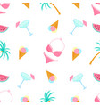 ice-cream swimsuit palm tree margarita summer vector image