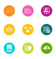 info date icons set flat style vector image
