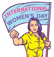 international womens day design vector image vector image