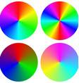 Isolated gradient rainbow circle design set vector image vector image