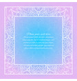 lace invitation card blue and pink mandala vector image vector image