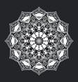 mandala pattern black and white ornament vector image vector image