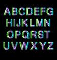 metallic alphabet set vector image vector image