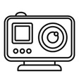 modern action camera icon outline style vector image vector image