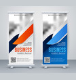modern business roll up banner design template vector image vector image