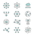 molecule model line set structure of molecules vector image vector image