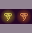neon icon of yellow and orange tornado vector image