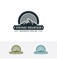 old-fashioned mountain logo vector image