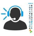Operator Message Flat Icon with Bonus vector image vector image