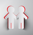 Paper Cut People Holding Hands vector image