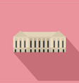 parliament building icon flat style vector image