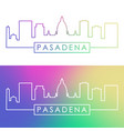 pasadena skyline colorful linear style editable vector image vector image