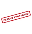 Patent Protected Rubber Stamp vector image vector image