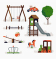 playground items vector image vector image