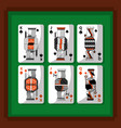 playing cards poker kings and queen spade and vector image vector image