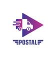 postal service company logo design concept vector image
