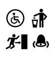 public spaces signals format icon set vector image