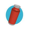 red coffee thermos in perspective vector image vector image