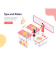 relax and spa room concept isometric design vector image vector image