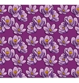 Seamless background flowers crocus