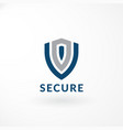 security logo with shield symbol vector image vector image