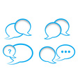 set of bubbles for a chat with the shadow of the vector image vector image