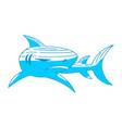 shark logo symbol design isolated template vector image vector image