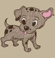 skecth funny dog vector image vector image